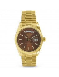 Gold Day/Date Classic Mens Executive Style Watch