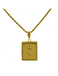 Vault 14K Gold Plated Pendant and Chain