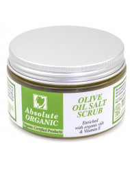 Absolute Organic All Natural Skin Transforming Olive Oil Salt Scrub