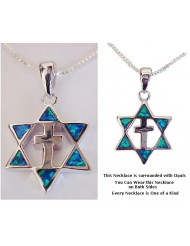 Sterling Silver Star & Cross Opals