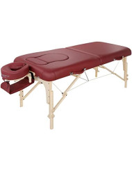 Master Massage 30'' Eva Portable Pregnancy Multi-Functional Massage Therapy Beauty Bed Couch, Burgundy
