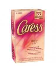 Caress Daily Silk Beauty Soap Bar - (6 X 4 Ounce)